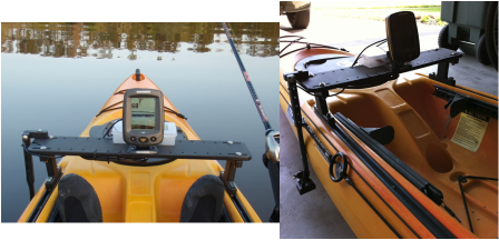 kayak rigging - kayak bass fishing tx, Fish Finder